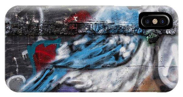 Graffiti Bluejay IPhone Case