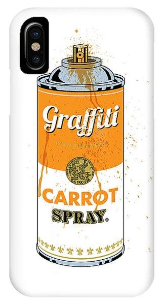 Graffiti Carrot Spray Can IPhone Case