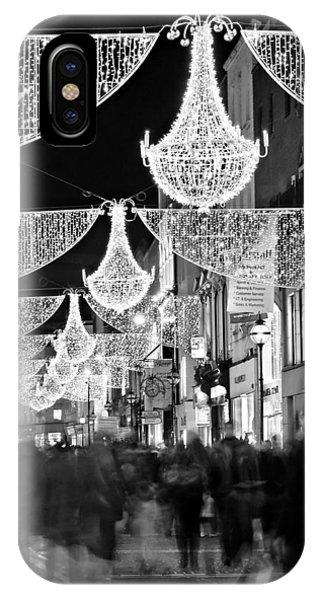 Grafton Street At Christmas / Dublin IPhone Case