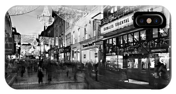 IPhone Case featuring the photograph Grafton Street At Night / Dublin by Barry O Carroll