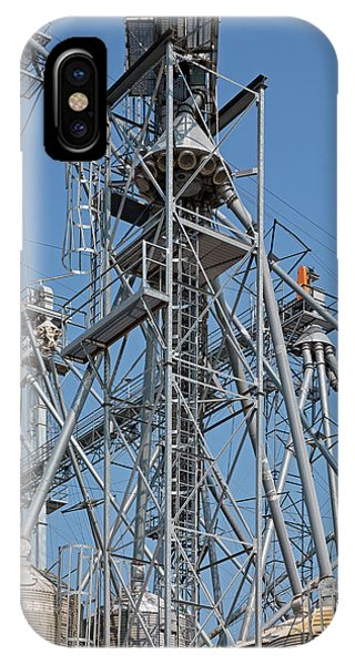 Grain Elevator And Gantries Phone Case by Jim West