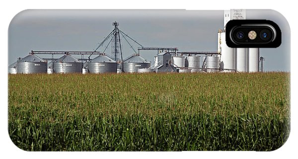 Wheeler Farm iPhone Case - Grain Elevator And Maize Field by Jim West