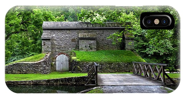 Graining Mill And Sluice Bridge. Hagley Museum. IPhone Case