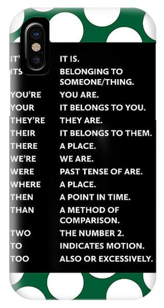 Grammar Rules IPhone Case
