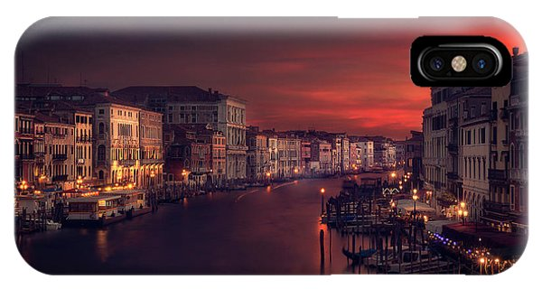 Night iPhone Case - Gran Canal by Jose Garcia