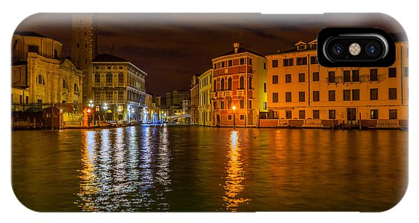 Grand Canal In Venice At Night IPhone Case