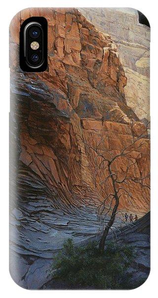 Grand Canyon iPhone Case - Arizona Hike Into Canyon  by Don  Langeneckert