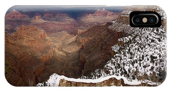IPhone Case featuring the photograph Grand Canyon In Winter by Brad Brizek