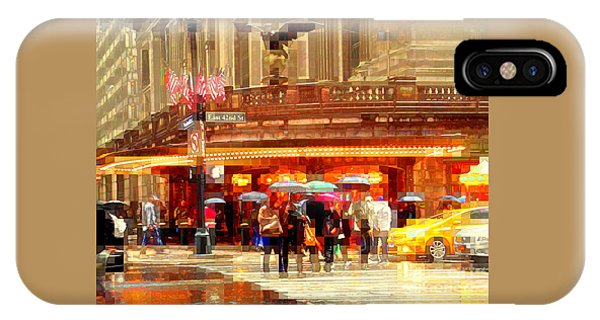 Grand Central Station In The Rain - New York IPhone Case