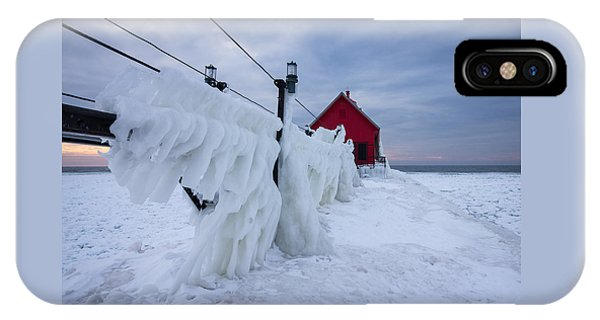 Grand Haven Lighthouse In Winter IPhone Case