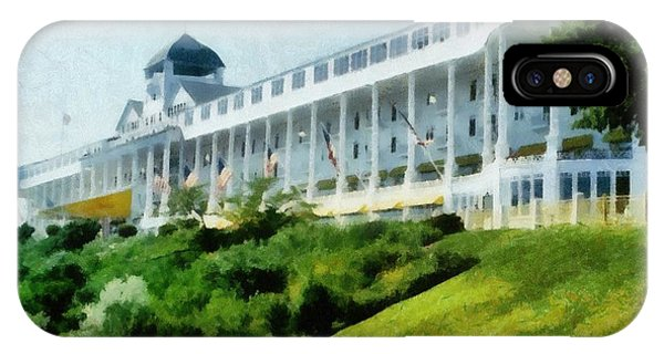 Superior iPhone Case - Grand Hotel Mackinac Island Ll by Michelle Calkins