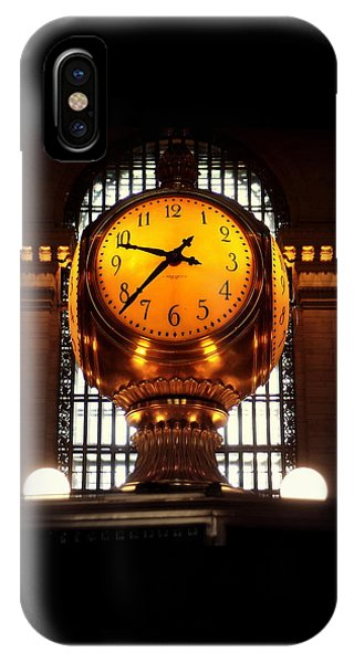 Grand Old Clock At Grand Central Station - Front IPhone Case