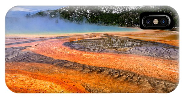 Grand Prismatic Spring Boardwalk View IPhone Case
