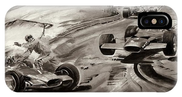 Accident iPhone Case - Grand Prix Problems by Graham Coton
