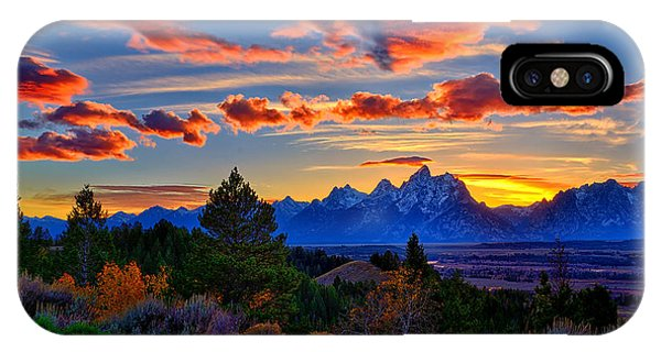 Teton iPhone Case - Grand Teton Sunset by Greg Norrell