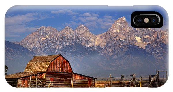 Grand Tetons From Moulton Barn IPhone Case
