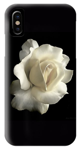IPhone Case featuring the photograph Grandeur Ivory Rose Flower by Jennie Marie Schell