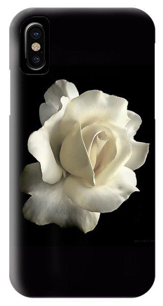 Grandeur Ivory Rose Flower IPhone Case