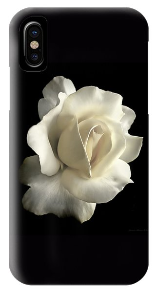 Grandeur Ivory Rose Flower IPhone Case