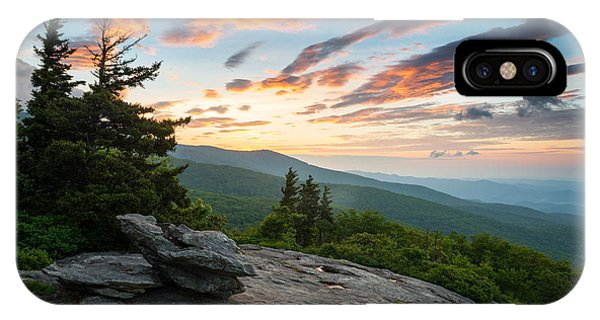 Grandfather Mountain Blue Ridge Parkway Nc Beacon Heights At Sunrise IPhone Case