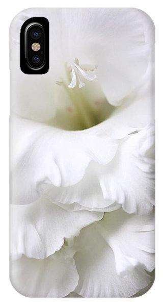 Grandiose White Gladiola Flower IPhone Case
