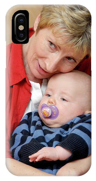 Grandmother And Baby Phone Case by Aj Photo/science Photo Library