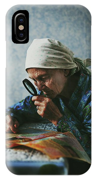 Reading iPhone Case - Grandmother by Natalia Zhukova