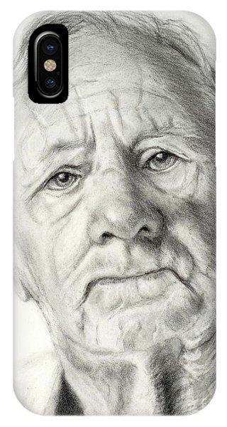 Grandpa Full Of Grace Drawing IPhone Case