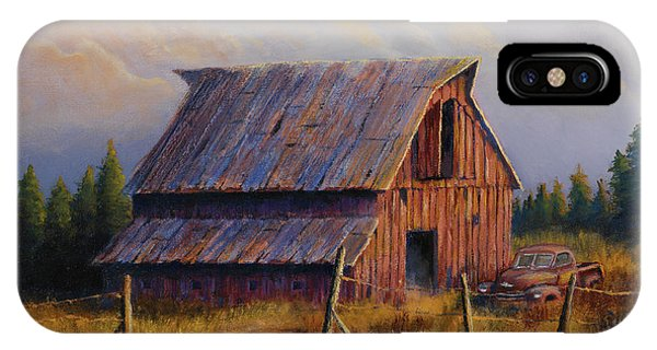 Barn iPhone Case - Grandpas Truck by Jerry McElroy