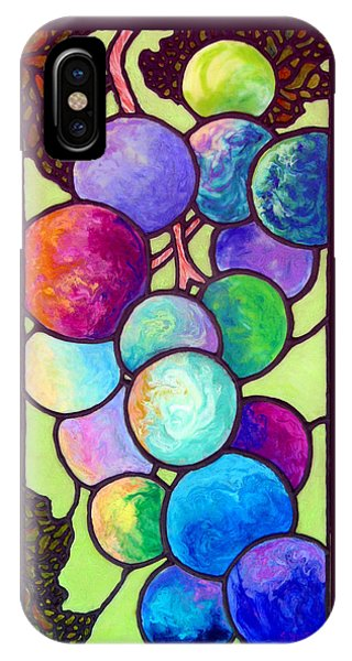 IPhone Case featuring the painting Grape De Chine by Sandi Whetzel