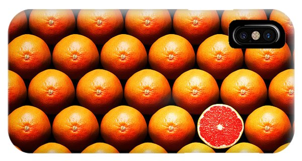 Fruit iPhone Case - Grapefruit Slice Between Group by Johan Swanepoel