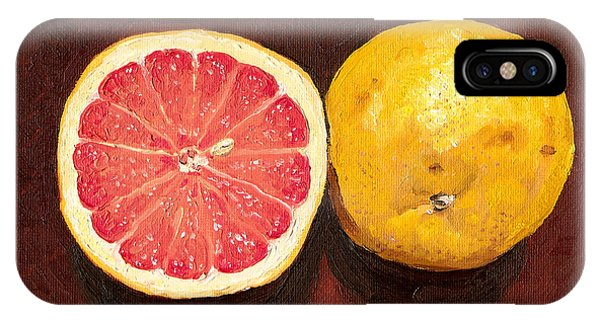 Grapefruits Oil Painting IPhone Case