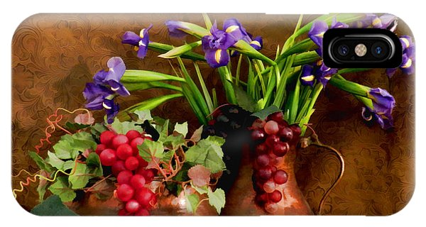 Grapes And Irises IPhone Case