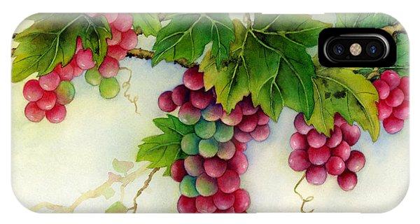 Grape iPhone X Case - Grapes by Hailey E Herrera