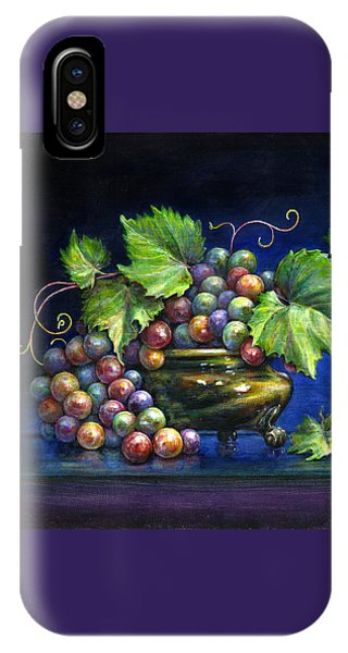 Grapes In A Footed Bowl IPhone Case