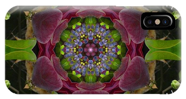 Grapevine Portal Mandala IPhone Case