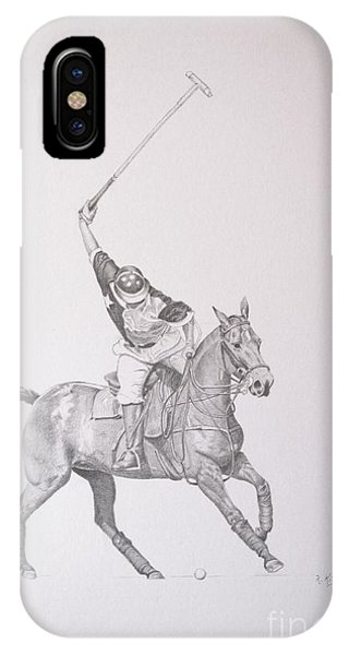 Graphite Drawing - Shooting For The Polo Goal IPhone Case
