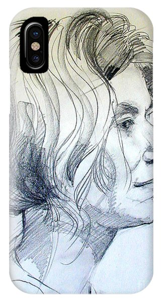 Portrait Drawing Of A Woman In Profile IPhone Case