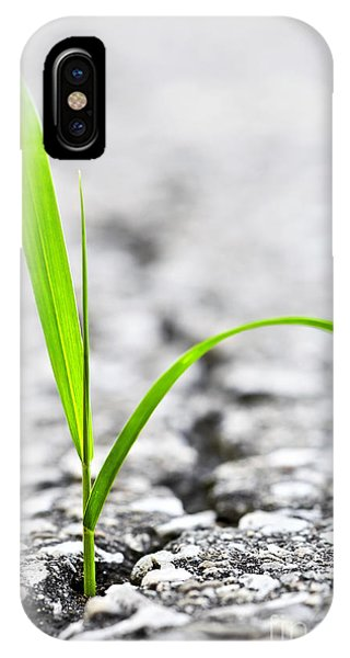 Garden iPhone X Case - Grass In Asphalt by Elena Elisseeva