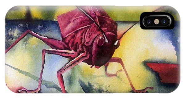 iPhone Case - Grasshoper by Zuzana Vass