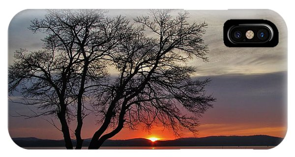 Grassy Point Sunrise Phone Case by Thomas  McGuire
