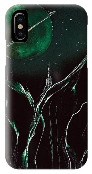 IPhone Case featuring the painting Gravair Castle by Jason Girard