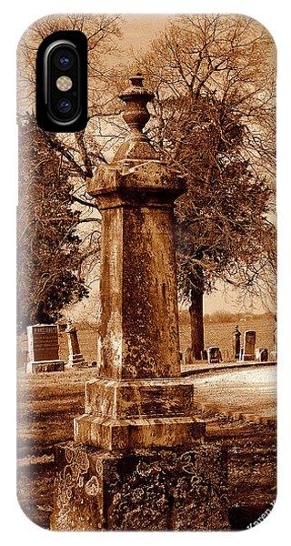 Graveyard In Sepia IPhone Case