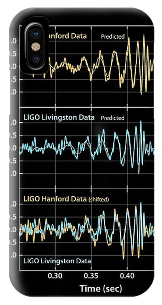 Astrophysical iPhone Case - Gravitational Wave Signals by Ligo