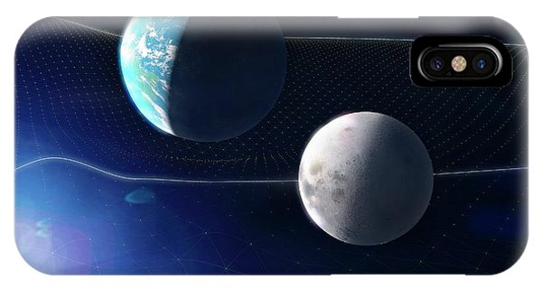 Gravitational Waves And Earth Phone Case by Ramon Andrade 3dciencia