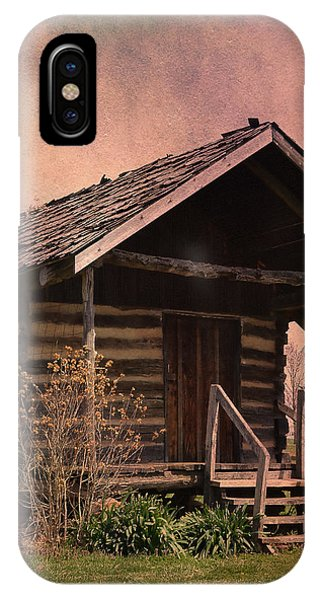 Gray Campbell Farmstead Cabin IPhone Case
