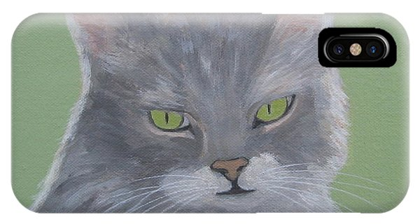 Cat With Green Eyes  IPhone Case