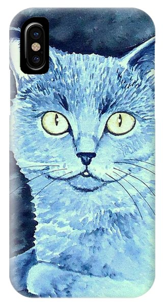 Gray Cat IPhone Case
