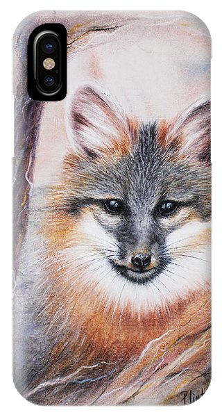 Gray Fox IPhone Case