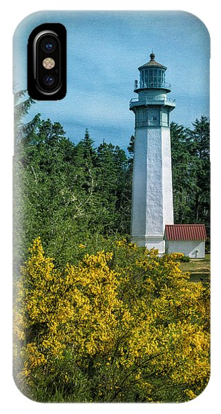 Navigation iPhone Case - Grays Harbor Lighthouse by Joan Carroll